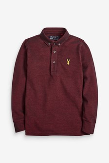 Long Sleeve Pique Polo (3-16yrs)