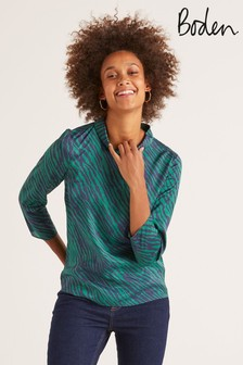 Boden Green Lily Top