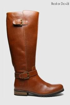 Red Or Dead Rod Radley Leather Hi Leg Boots