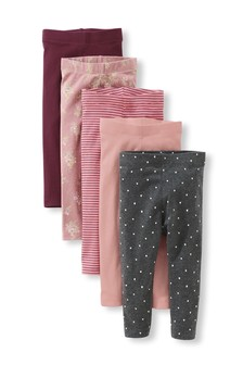 Pack de 5 leggings (3 meses-7 años)