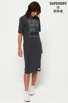 Superdry Kellow Graphic Midi Dress