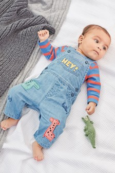 Denim Character Dungaree And Bodysuit Set (0mths-2yrs)
