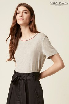 Great Plains Gold Madeleine Jersey Round Neck T-Shirt