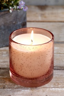 Rhubarb and Ginger Bubble Glass Candle