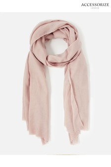Accessorize Pink Sorrento Lightweight Scarf