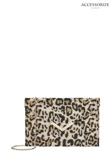 Accessorize Leopard Lily Envelope Clutch