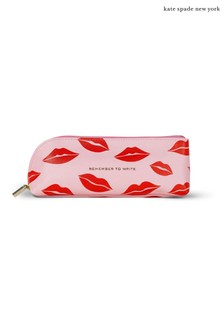 kate spade new york Pink Lips Pencil Case