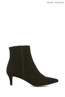 Mint Velvet Jodie Black Kitten Heel Boots