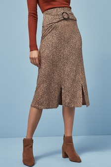 Ditsy Split Skirt