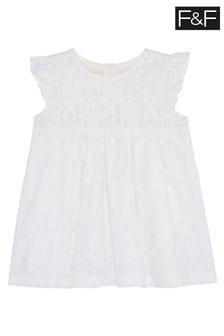 F&F White Lace Occasion Dress