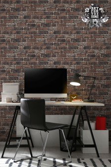 Fresco Brick Wall Wallpaper by Art For The Home