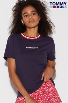 Tommy Jeans Contrast Rib Logo T-Shirt