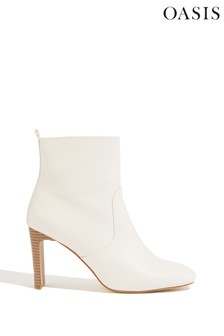 Oasis White Mabel Ankle Boots