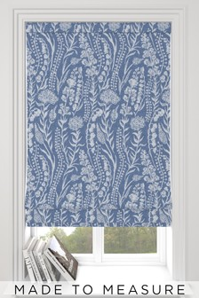 Garrick Denim Blue Made To Measure Roman Blind