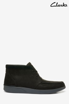 Clarks Black Combi Oakland Top Boots