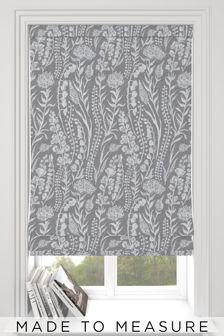 Garrick Mouse Grey Made To Measure Roman Blind