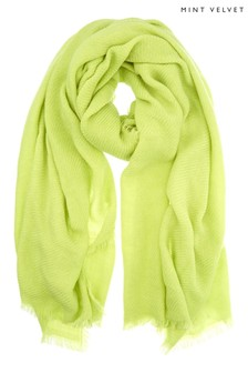 Mint Velvet Green Textured Scarf