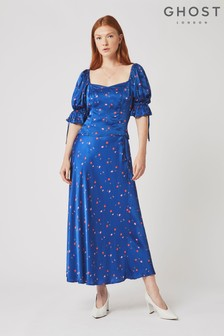 Ghost London Blue Lizzie Haley Ditsy Skirt