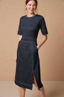 Ponté Midi Dress