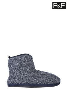 F&F Grey Cosy Knit Booties