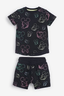 Mickey Mouse™ All Over Print T-Shirt And Short Set (3mths-8yrs)