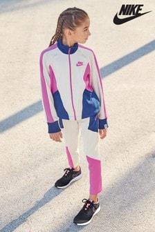 Nike Heritage Cream/Blue Joggers
