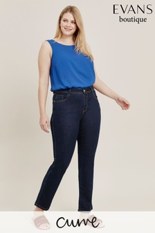 Evans Curve Indigo Straight Leg Jeans