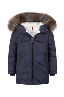 Boys Navy Menue Parka