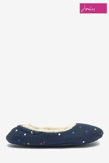 Joules Blue Lined Slippers