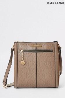 River Island Beige Messenger Bag