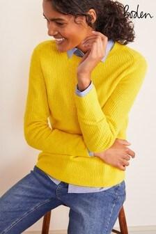 Boden Yellow Rosslyn Fluffy Jumper