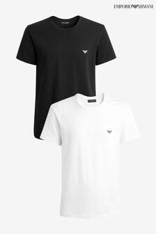 Emporio Armarni Black/White T-Shirts 2 Pack