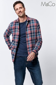 M&Co Men's Pink Checked Shirt
