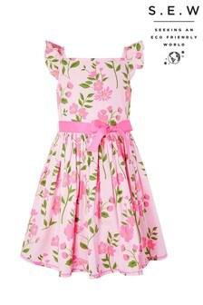 Monsoon Pink S.E.W Mavis Floral Printed Dress