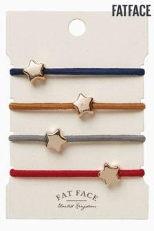 Fatface Blue Star Elastics 4 Pack