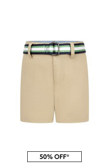 Ralph Lauren Kids Baby Boys Camel Cotton Shorts