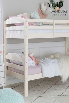 Solid Wood Twin Over Twin Bunk Bed By Banbury Designs