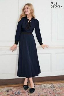 Boden Blue Thelma Midi Dress