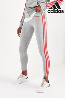 adidas Essentials Grey 3 Stripe Leggings