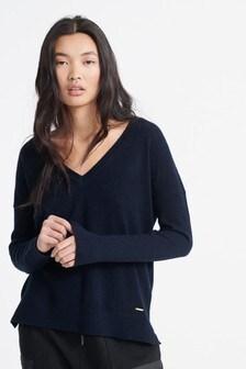 Superdry Edit V-Neck Premium Knitted Jumper