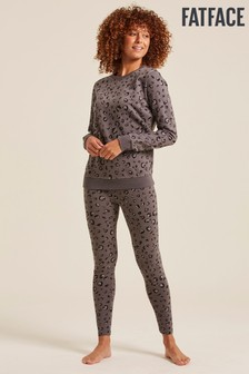 FatFace Grey Leopard Print Leggings