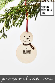 Personalised Mummy Snowman Decoration by Sophia Victoria Joy