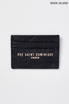 River Island Black RSD Leather Card Holder