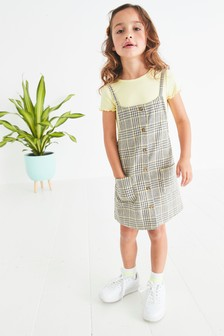 Check Pinafore With T-Shirt (3-16yrs)