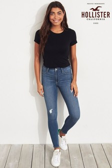 Hollister Mid Wash Blue Straight Leg Jeans