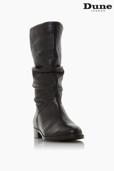 Dune London Rosalindas Ruched Calf Boots