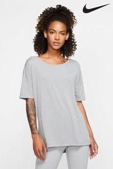Nike Grey Yoga Training T-Shirt