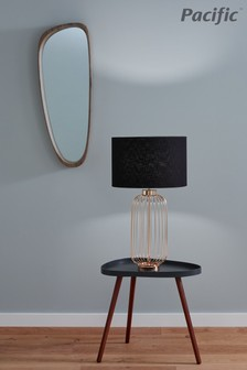 Dania French Gold Metal Wire Tall Table Lamp by Pacific Lifestyle