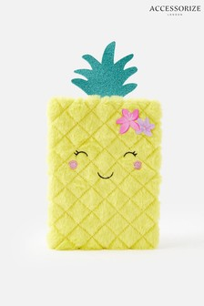 Accessorize Yellow Fluffy Miss Pineapple Notebook