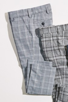 Check Cropped Formal Trousers (3-16yrs)